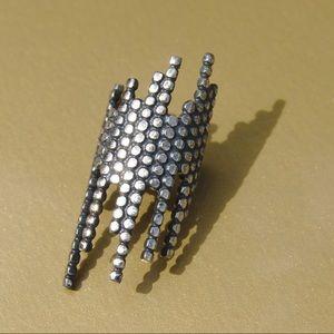 Maria Black Cascade Ear Cuff Oxidized Silver